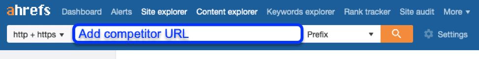 Ahrefs URL search
