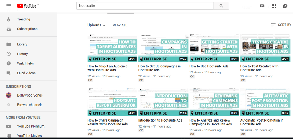 Hootsuite how-to videos