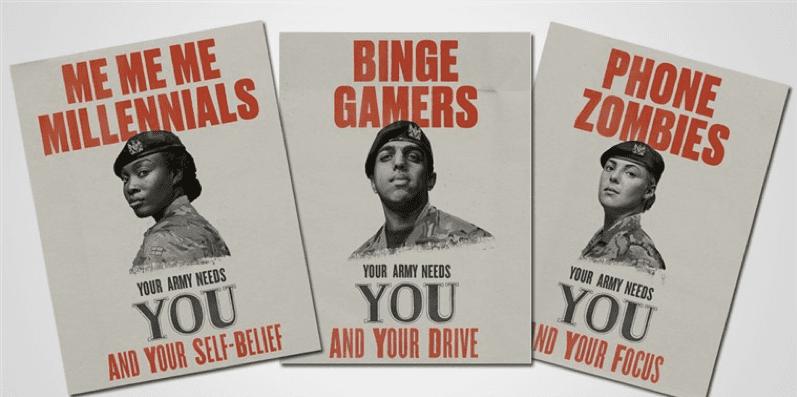 Millennials Army ads