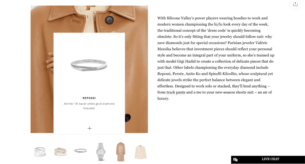 Net-A-Porter visual search example