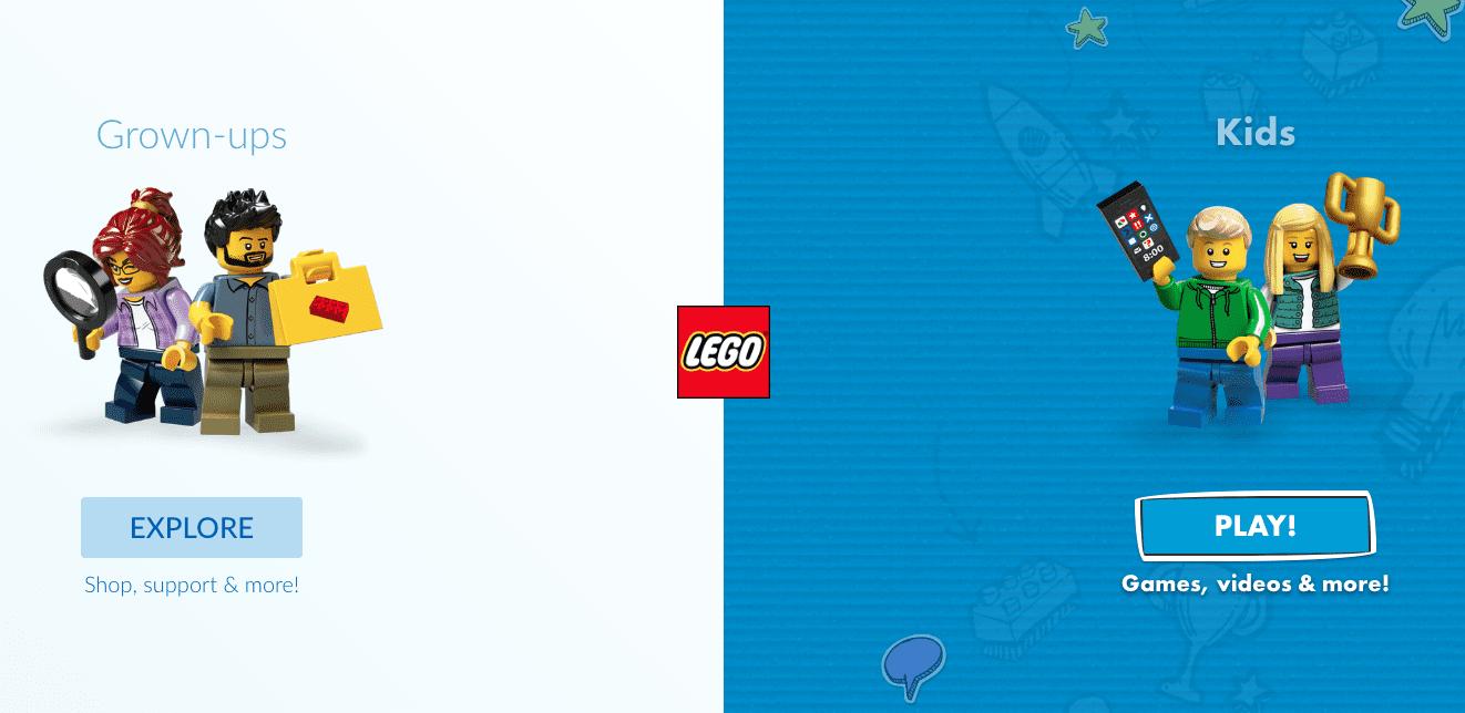 Sito Web di Lego UK