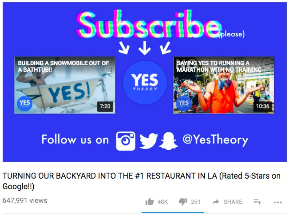YouTube example