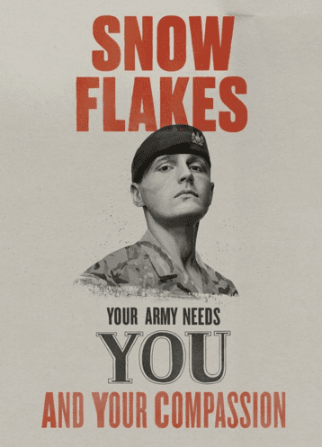 Snowflakes Army ad