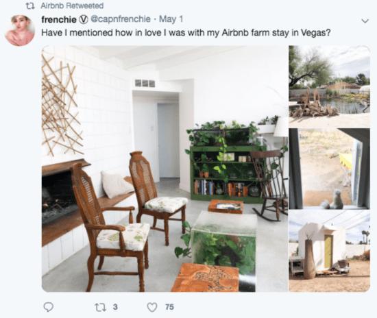 Airbnb retweet