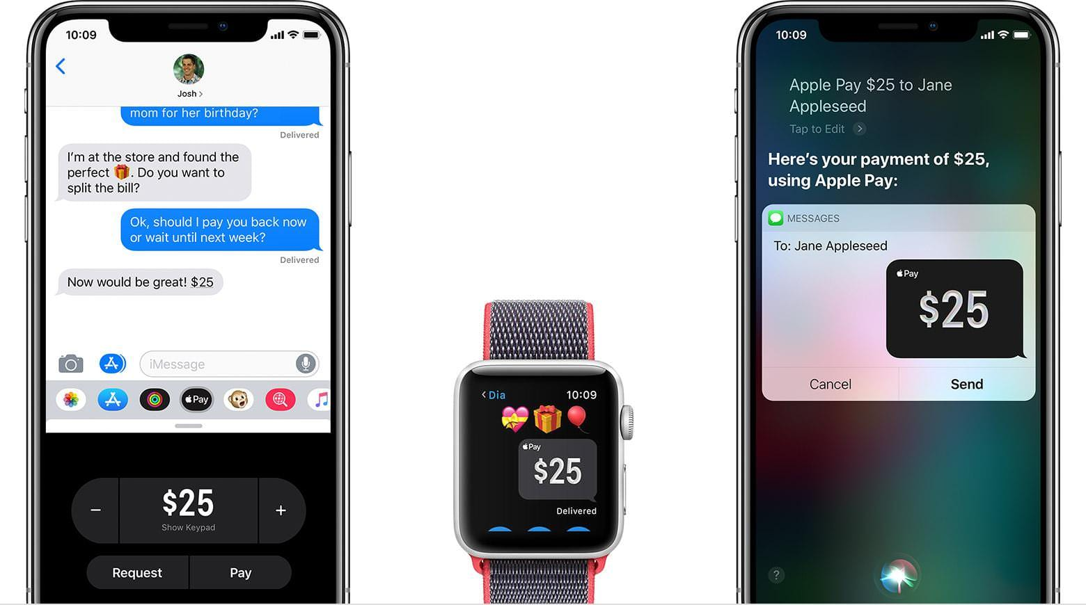 Apple Pay on smartphones and watch