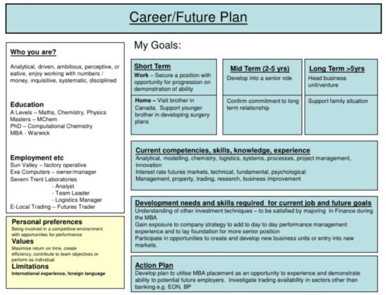 Future career plan