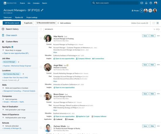 LinkedIn recruiter tools updates