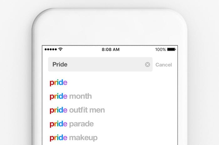 Pride Pinterest text filter