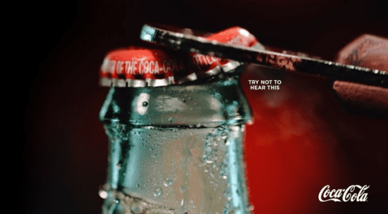 Coca-Cola bottle - Try not to hear this advertising campaign