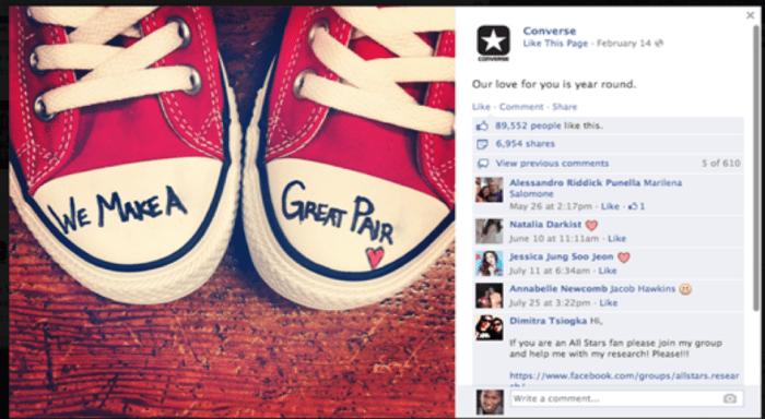 Converse Facebook post