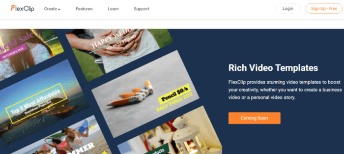 FlexClip rich video templates