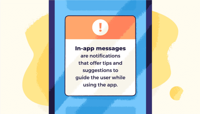 In-App messages to engage users and reduce app abandonment