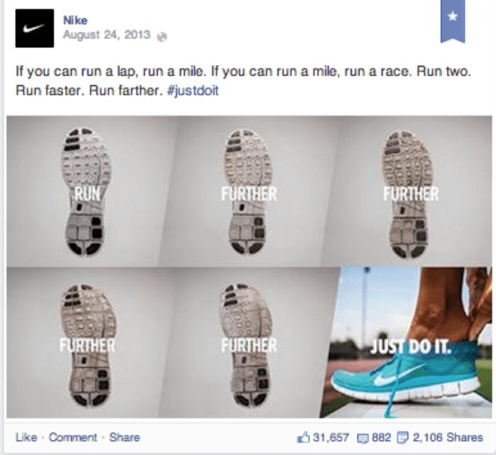 Nike Facebook post