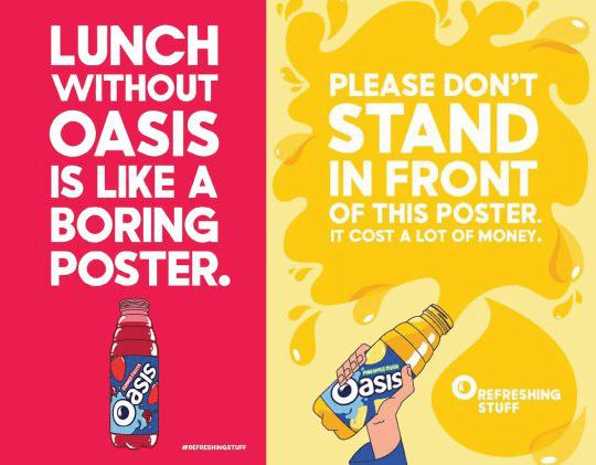 Oasis - refreshing stuff adverts