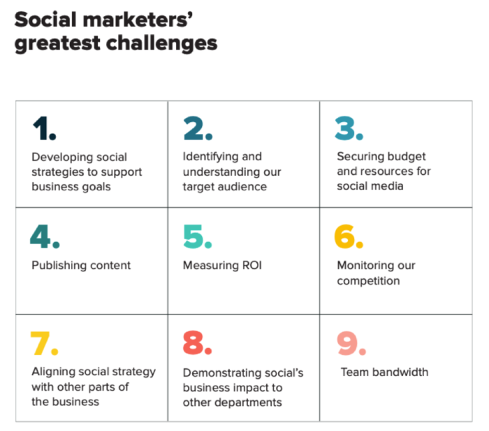 Social marketers' greatest challenges