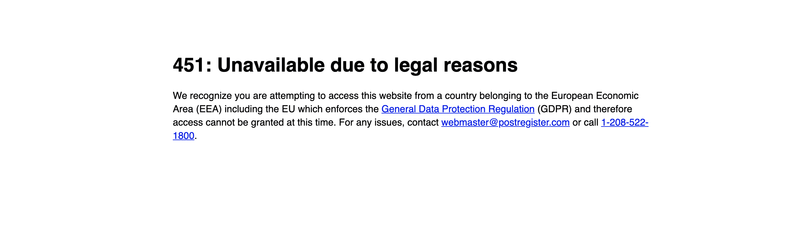The Register GDPR warning