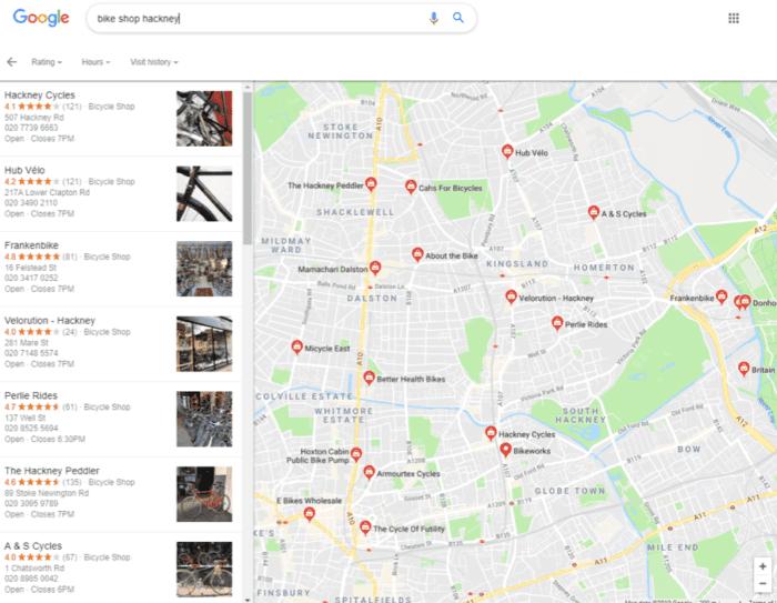 Bike shops in Hackney