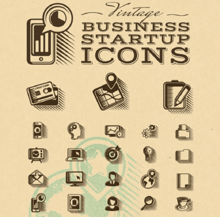 Business starter icons