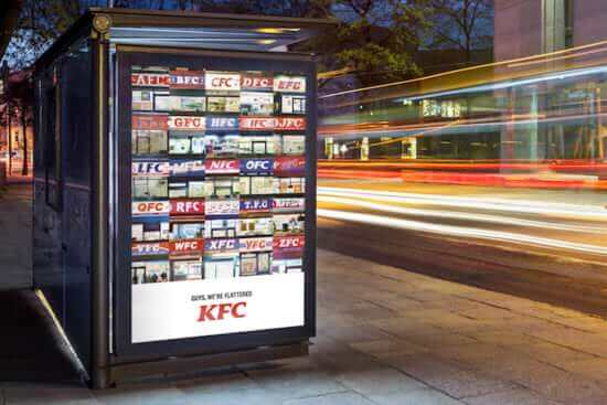 KFC imitation brands print ad
