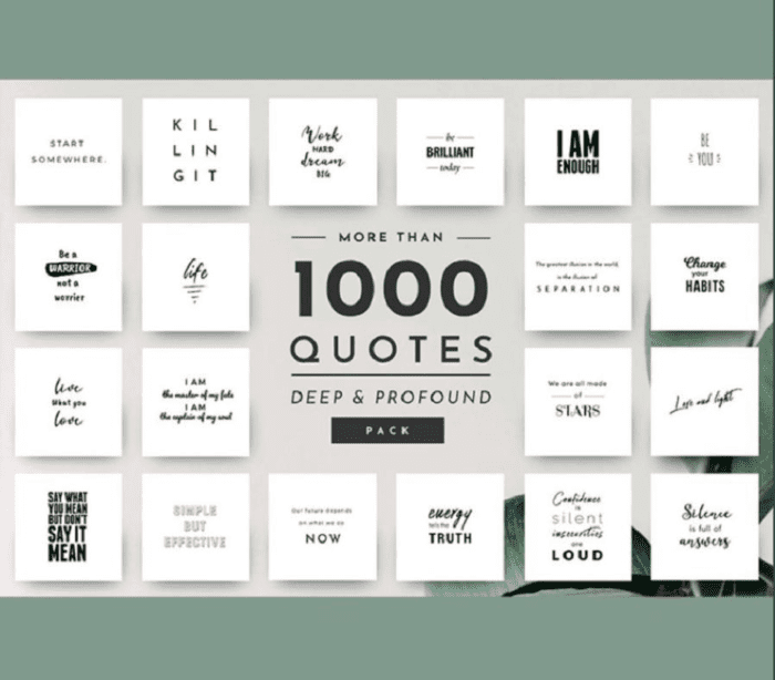 Social Media Quote Pack