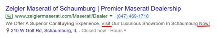 Zeigler Maserati paid ad