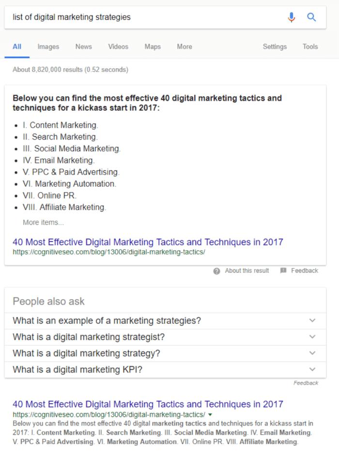 list of digital marketing strategies