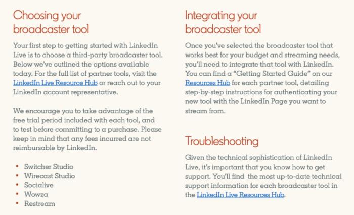 LinkedIn Live guide