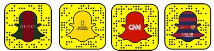 Snapchat QR codes