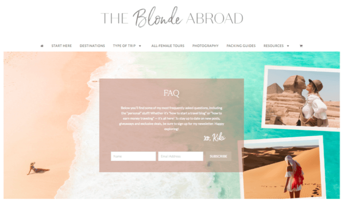 The Blonde Abroad
