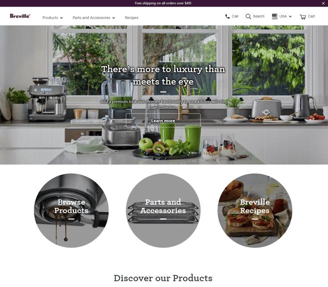 Breville website
