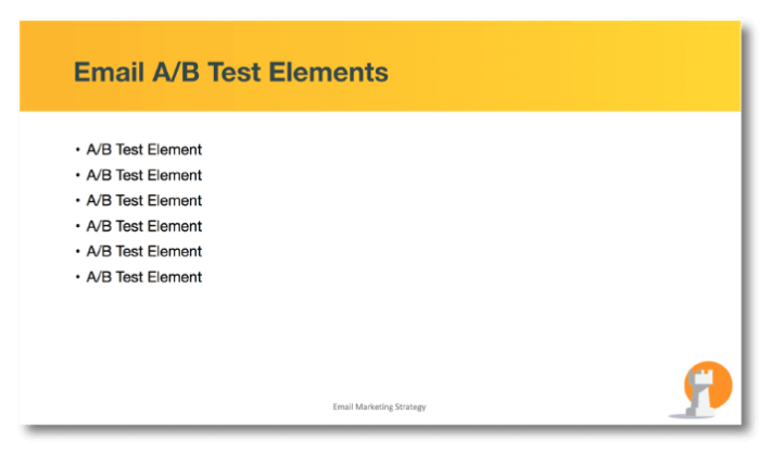 Email A/B Test Elements