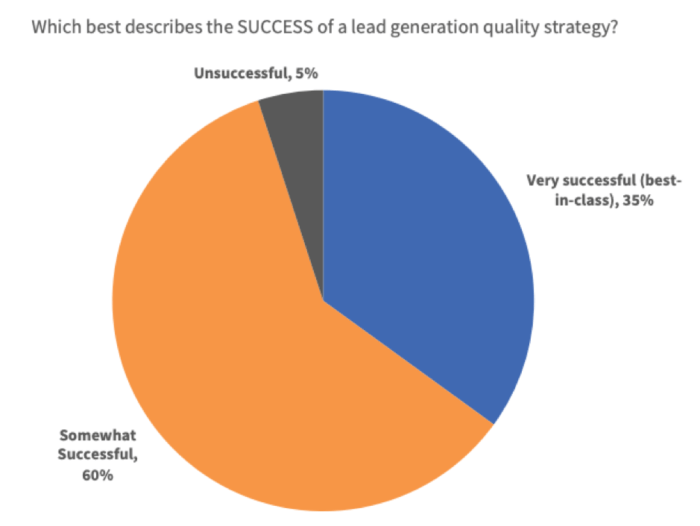 How success are lead generation quality strategies?