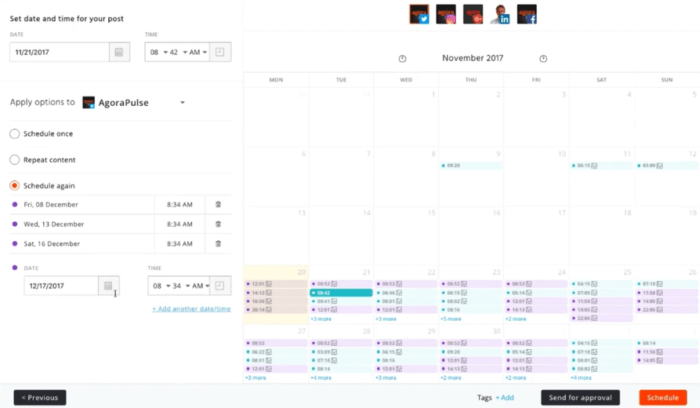 Agorapulse scheduling