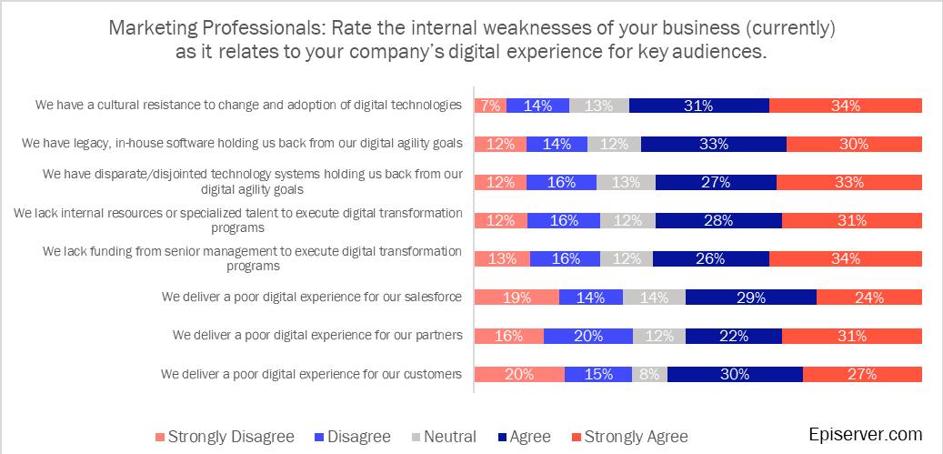 Marketing internal weaknesses