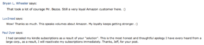 Response to Jeff Bezos apology