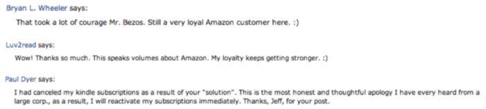 Response to Jeff Bezos apology