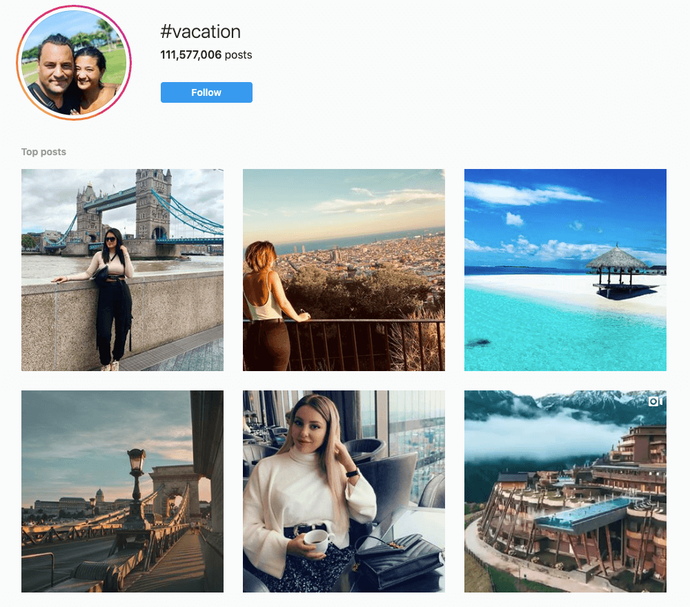 #Vacation on Instagram
