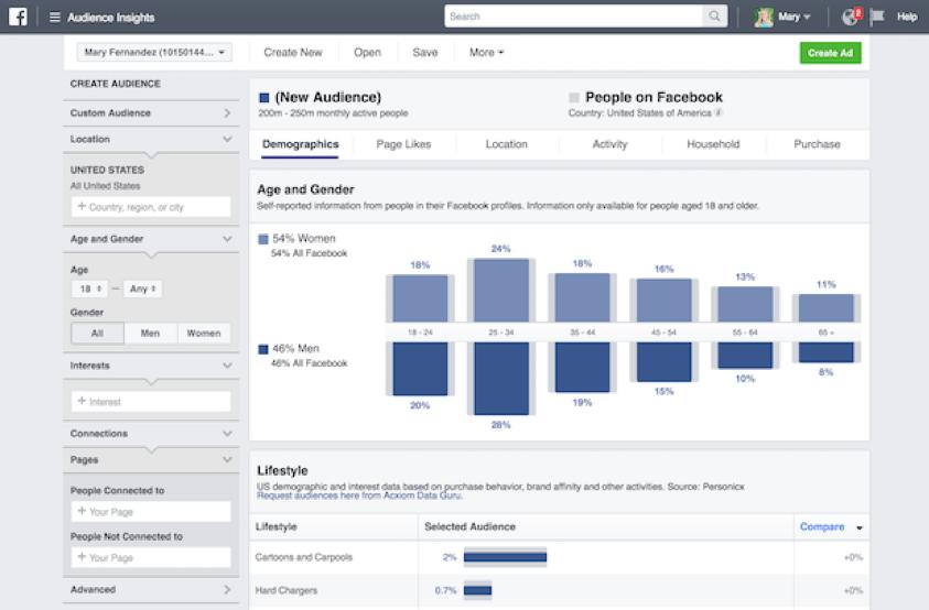 Facebook Audience Insights social media