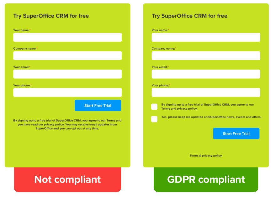 GDPR compliant consent