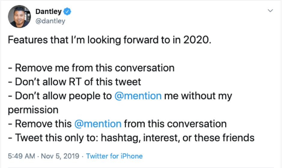 Twitter new features tweet