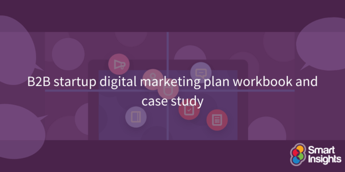 B2B startup digital marketing plan workbook and case study