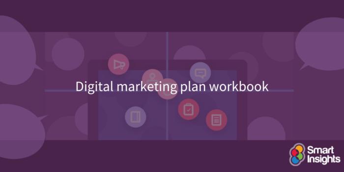 Digital marketing plan workbook
