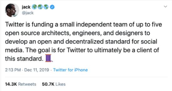 Jack Dorsey Tweet