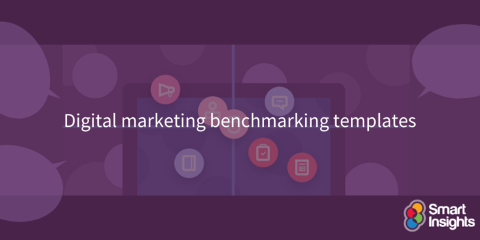 Digital marketing benchmarking templates