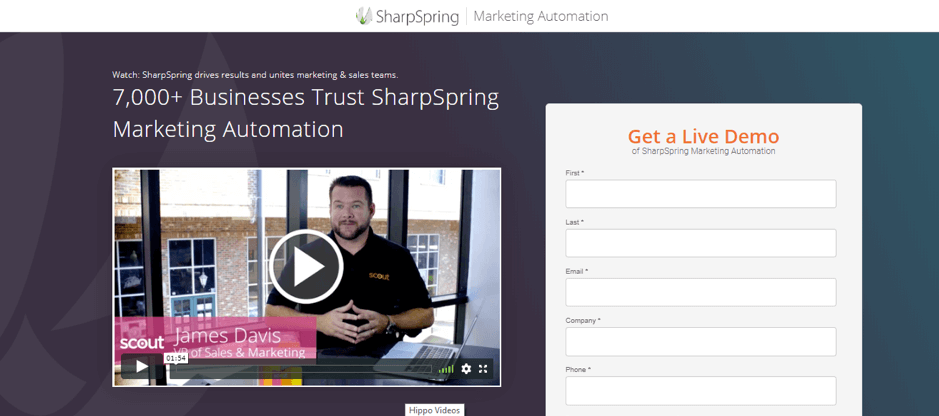 Personalized video landing page example