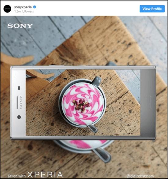 Sony Experia social post