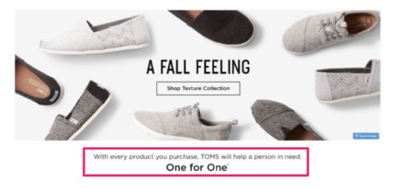 Toms Shoes campaign example