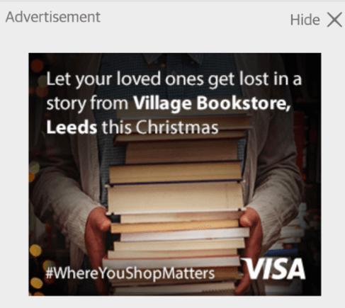 Visa local display ad