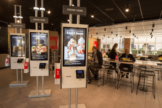McDonald's self service kiosks