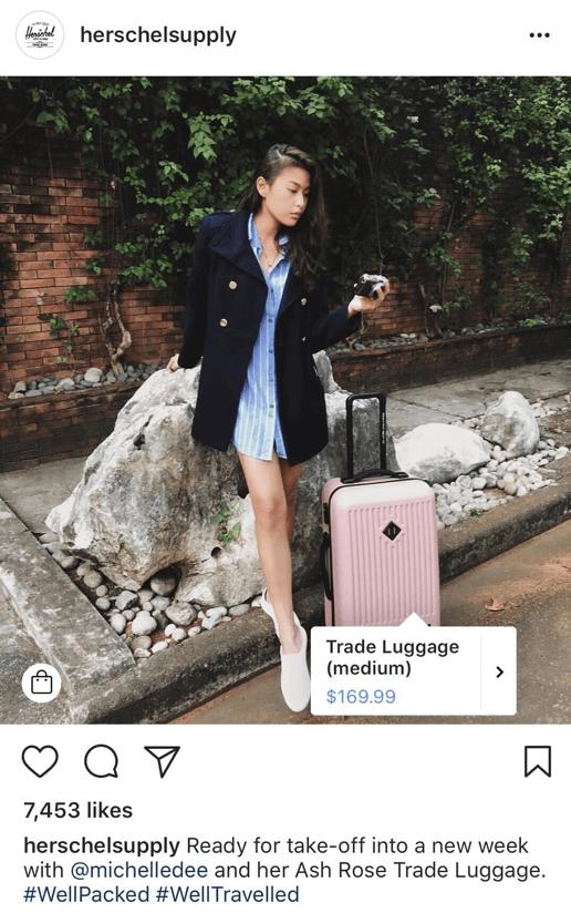 herschelsupply Instagram E-commerce inbound marketing